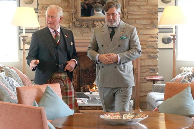 Prince Charles with Michael Fawcett