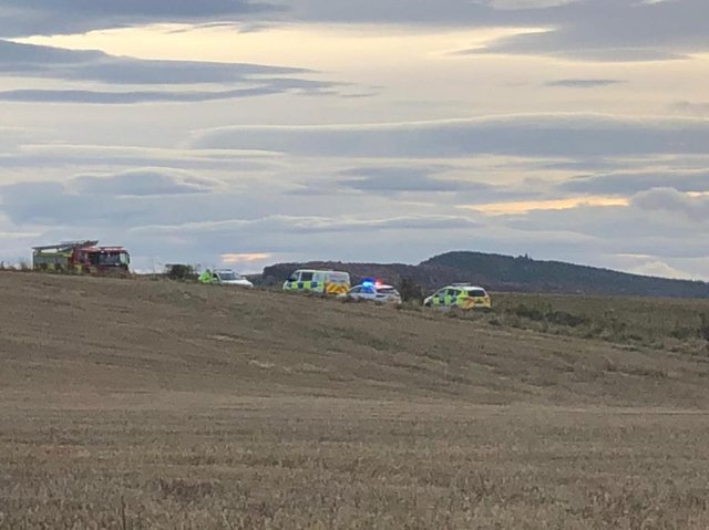 A 67 year-old man has been confirmed dead after an aircraft crash at the Black Isle (Credit: BBC Scotland)