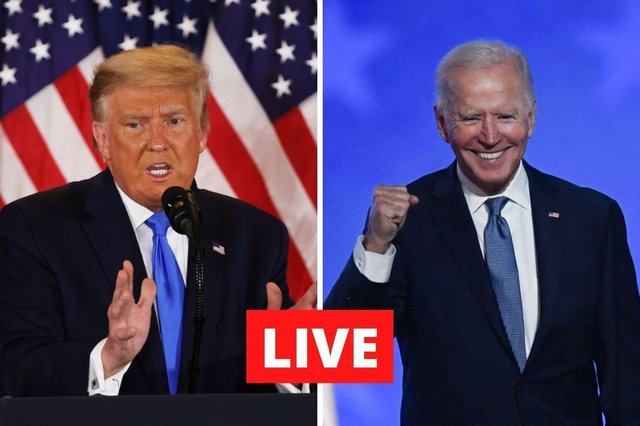 Trump on the defence as tight race tilts in Biden's favour.
