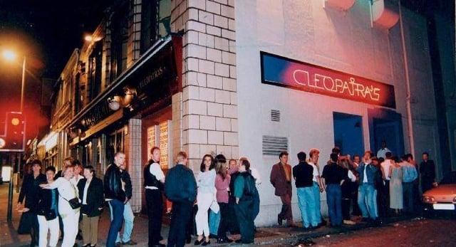 Cleopatra's nightclub in Glasgow