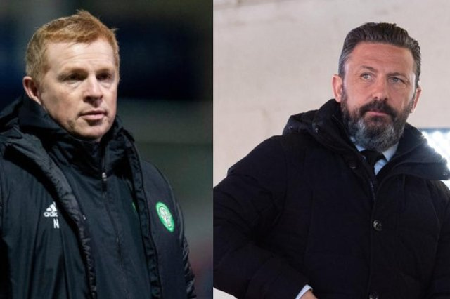 Neil Lennon and Derek McInnes are among the market contenders linked with the role at Salford City. (Pictures: SNS)