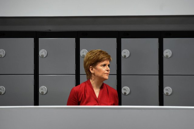 First Minister of Scotland Nicola Sturgeon visits West Calder High School in West Calder, Scotland (Photo by Andy Buchanan /AFP)