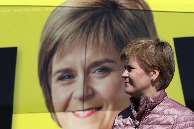 """The SNP leader Nicola Sturgeon today told voters """"never has so much been at stake"""""""