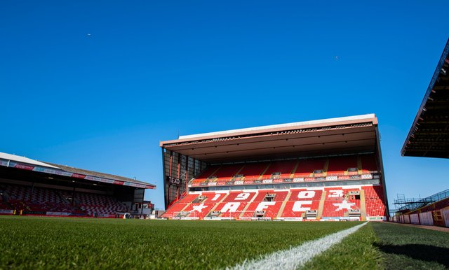 Pittodrie Stadium, Aberdeen. Picture: SNS