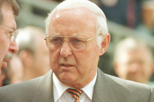 Jim McLean: was not amused by wedding dress picture