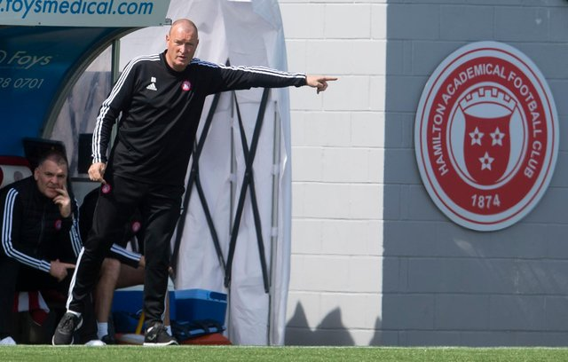 Hamilton boss Brian Rice will now prepare to get the team back into the Premiership after relegation. Picture: SNS