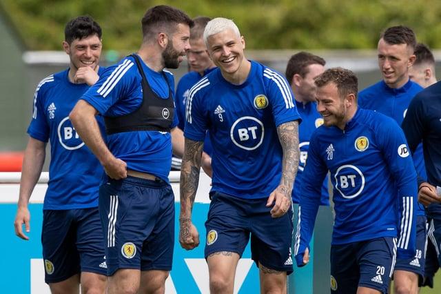 Skotský tým udržuje tempo tréninku.  Obrázek: SNS