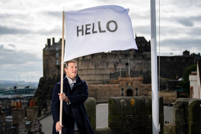 Peter Liversidge is revisiting his 2013 work, Flags for Edinburgh PIC: Ian Georgeson.