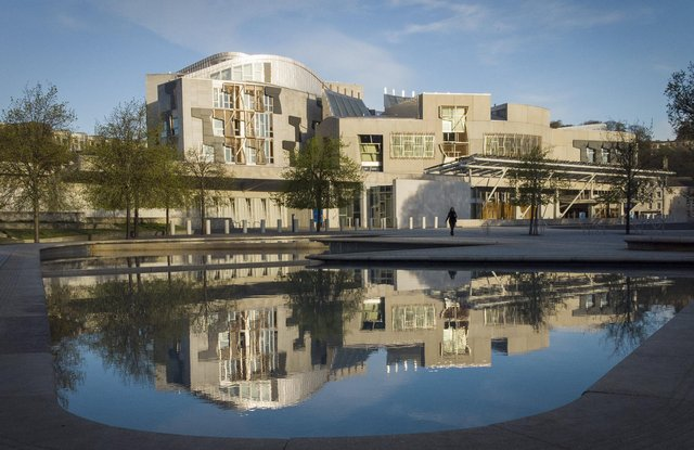 The Scottish Parliament building at Holyrood