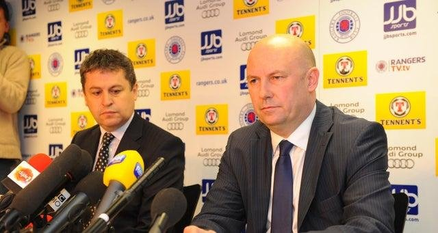 Rangers administrators David Whitehouse, left, and Paul Clark have reportedly received more than £20 million over a malicious prosecution brought against them (Picture: Robert Perry)