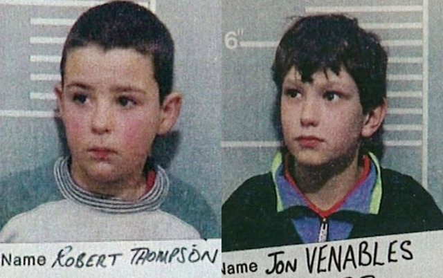 Jon Venables and Robert Thompson led James away from a shopping centre before killing him (Getty Images)