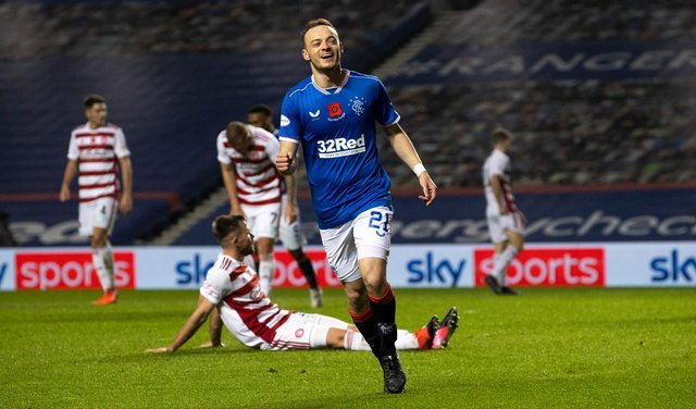Rangers winger Brandon Barker is set for a loan move. Picture: SNS