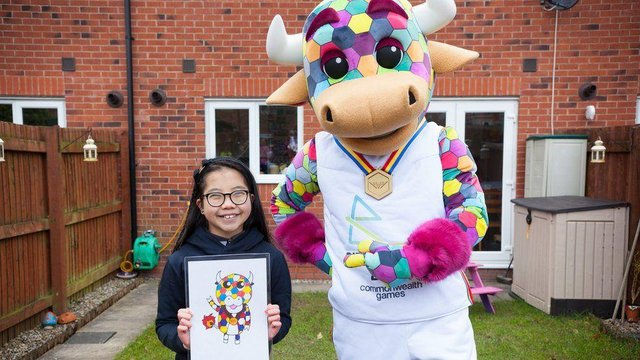 Emma Lou is excited to see her winning design, Perry, paraded at the Birmingham 2022 Opening ceremony (Picture: Birmingham 2022/Ian Powell)