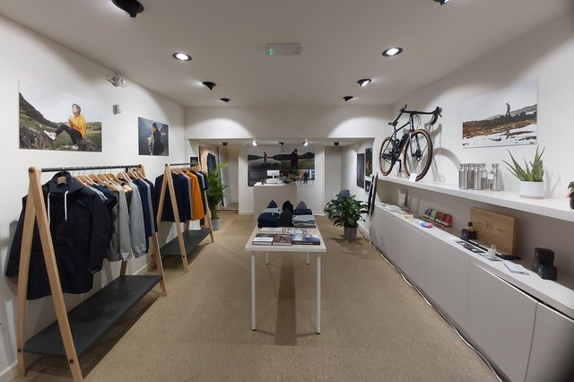 The Edinburgh store houses the full Meander collection of sustainable, technical clothing as well as showcasing a selection of 'like-minded premium Scottish brands'.
