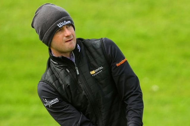 David Law plays his third shot on the 17th hole during the first round of the Made in HimmerLand presented by FREJA at Himmerland Golf & Spa Resort in Aalborg, Denmark. Picture: Andrew Redington/Getty Images.