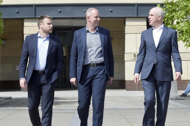 Despite the all too obvious uncertainty, fintech has had successes in 2020. Inset, from left, Stuart Murdoch, Callum Sinclair and David Goodbrand.