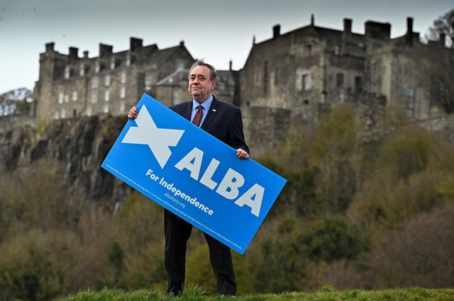Former first minister and leader of the Alba Party Alex Salmond campaigns at Stirling Castle. Picture: Jeff J Mitchell/Getty Images