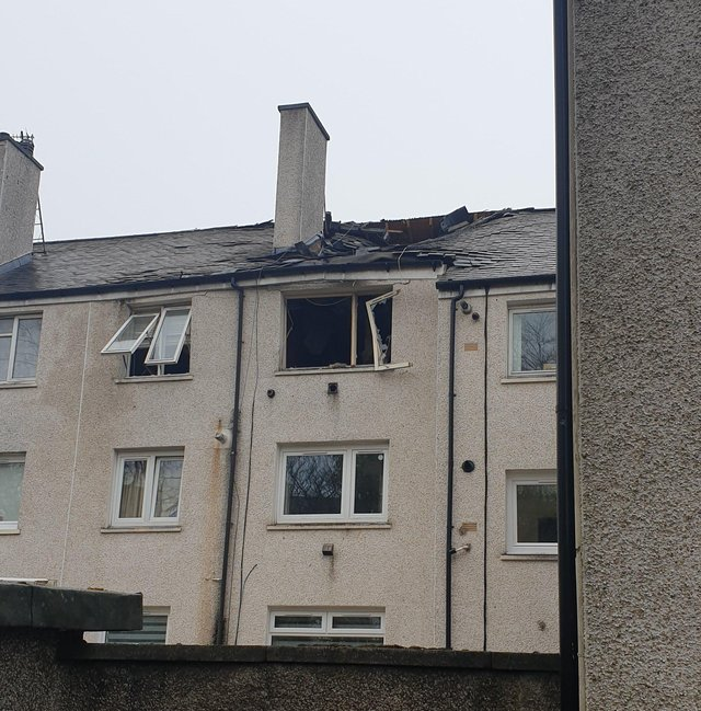 The flat on Main Street, East Kilbride, where the explosion occurred (Photo: Joolz Pedals).