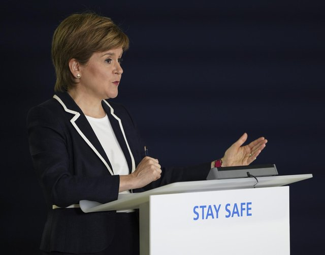 Nicola Sturgeon during the briefing on Thursday
