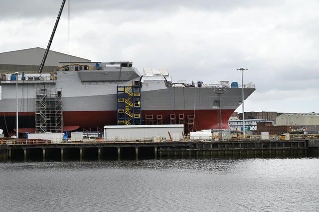 HMS Glasgow, budowany w Clyde, jest pierwszą fregatą typu 26 zbudowaną dla Royal Navy (Zdjęcie: John Devlin)