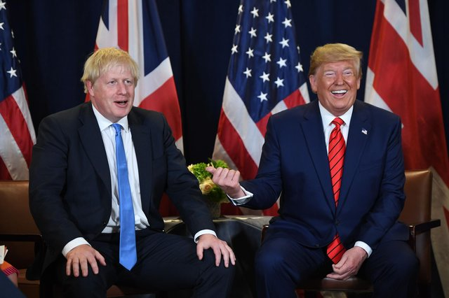 Boris Johnson's plans for voter ID cards are straight out of Donald Trump's playbook, says Joyce McMillan (Picture: Saul Loeb/AFP via Getty Images)