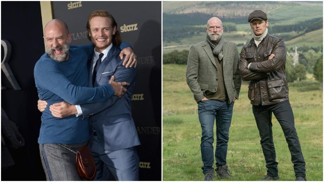Sam Heughan and Graham McTavish met on the set out of Outlander almost a decade ago (Getty Images/Starz/Twitter)