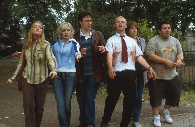 Nick Frost and Simon Pegg have updated the now-famous plan scene from Shaun of the Dead. Picture: Universal Pictures International