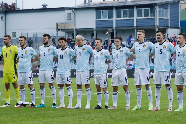 Scotland's team line up against Luxembourg last Sunday.