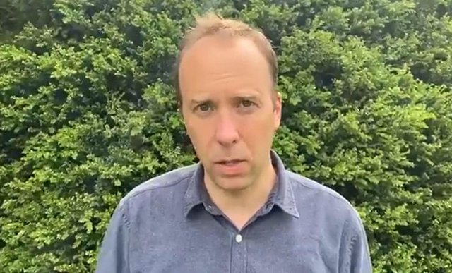 Matt Hancock posted a video on his twitter feed on Saturday in which he resigned as Health Secretary. Photo: Matt Hancock/PA Wire