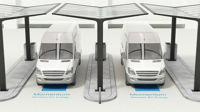 Vans could be charged in 30-60 minutes. Picture: Momentum Dynamics Corporation
