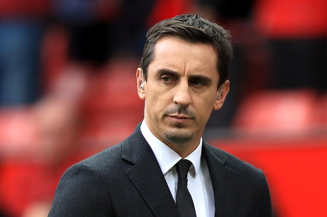 Gary Neville has urged footballers to take responsibility for their own social media. Picture: Mike Egerton/PA Wire