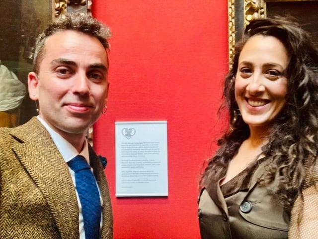 José Cava, 39, proposed to his girlfriend Sophia Harrison, 40, in unique fashion at the National Galleries in Edinburgh.