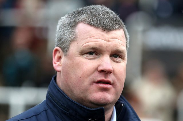 Gordon Elliott has been handed a 12-month ban, with the last six months suspended, after a picture emerged of the Grand National-winning trainer sitting on a dead horse. Picture: Simon Marper/PA Wire