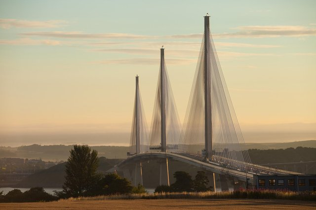 The Queensferry Crossing will partially close overnight at the weekend. Pic: Transport Scotland