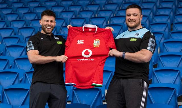Glasgow Warriors' Lions, Ali Price and Zander Fagerson.