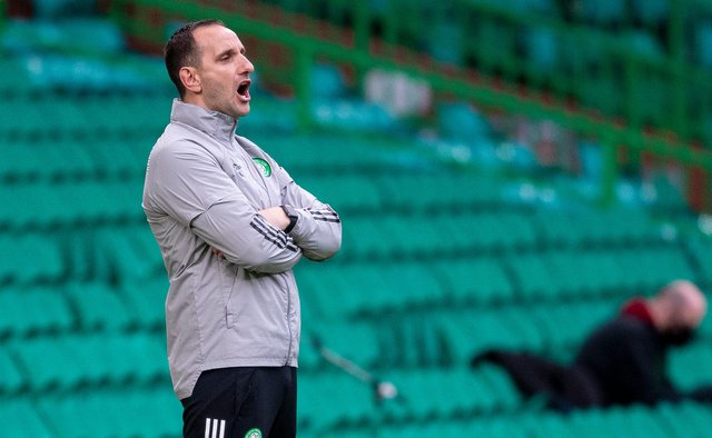 Celtic interim manager John Kennedy has sought to spell out loud and clear that an unbeaten league season for Rangers would not make them  invicibles to rival the domestically undefeated treble-winning Parkhead team of 2016-17. (Photo by Ross MacDonald / SNS Group)