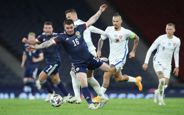 John Fleck in action for Scotland in the 1-0 win over Slovakia at Hampden on October 11, 2020. (Photo by Ian MacNicol/Getty Images)