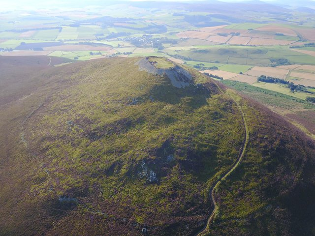 Tap O' Noth near Rhynie in Aberdeenshire was home to the largest known Pictish-era settlement with evidence of wine drinking recently found at the site. Investigations continue into whether the site was home to a temporary community - such as one that gathered for a festival - or a settled population. Picture: Aberdeen University.