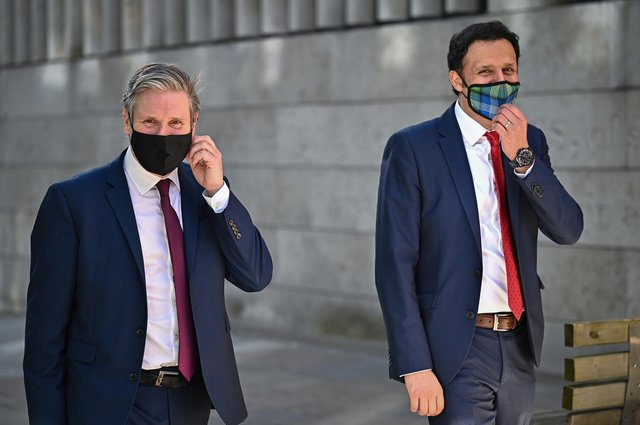 Labour leader Keir Starmer (left) and Scottish Labour Leader Anas Sarwar have said Nicola Sturgeon should resign if she is found to have breached the ministerial code.