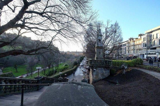 Edinburgh's Princes Street Gardens.