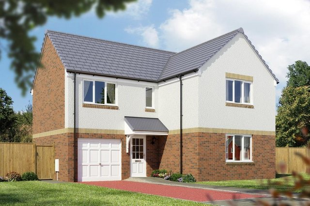 An indicative illustration of the new homes proposed for the Blindwells development in East Lothian.