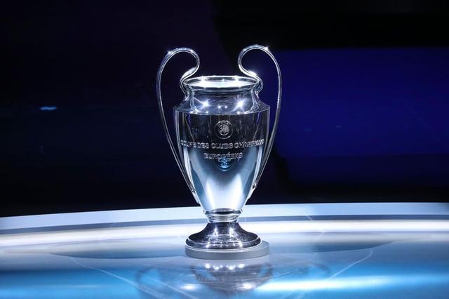 The UEFA Champions League trophy. (VALERY HACHE/AFP via Getty Images)