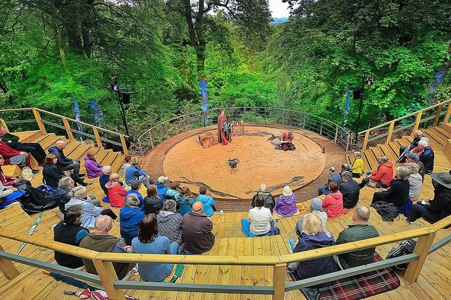 Adventures with the Painted People at Pitlochry Festival Theatre's newly built 80-seat Amphitheatre
