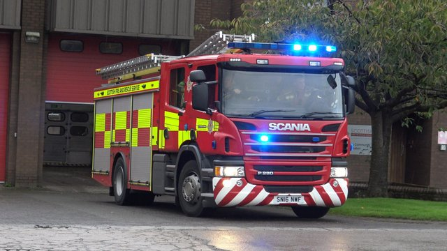 Fire crews in attendance at Moray gorse fire.