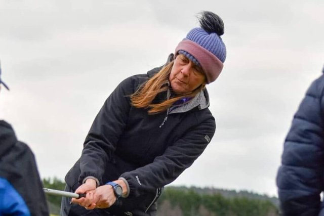 Karyn Dallas was the PGA professional at Kirriemuir for 20 years but now uses Forfar as her coaching base