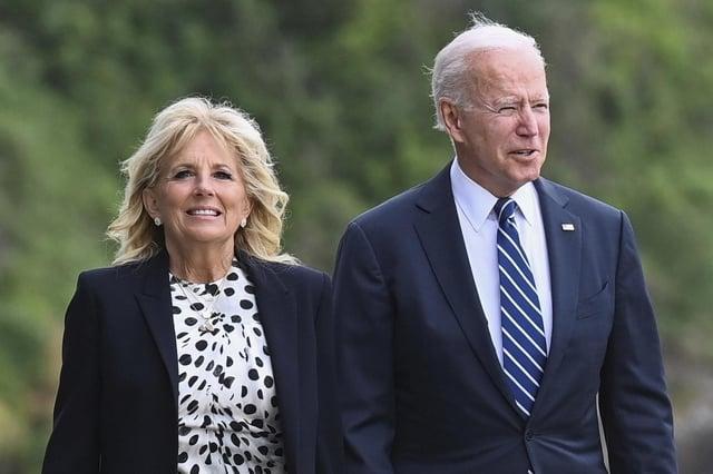 U.S. President Joe Biden with first lady Jill Biden