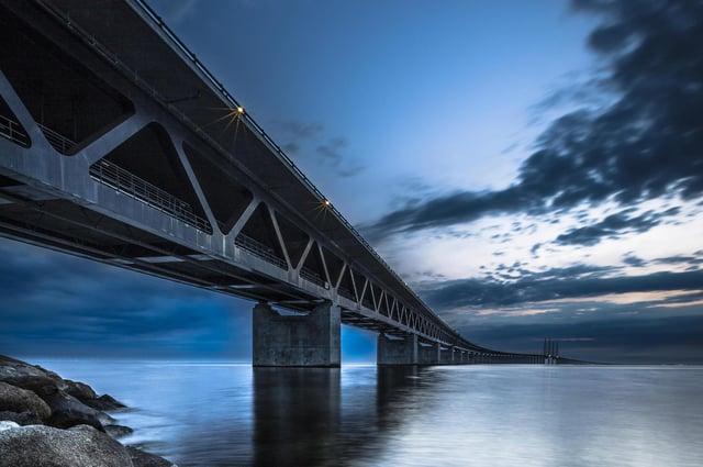 The Oresund bridge between Denmark and Sweden could be a model for a Scotland-Northern Ireland link. Picture: Daniel Kreher/imageBROKER/Shutterstock