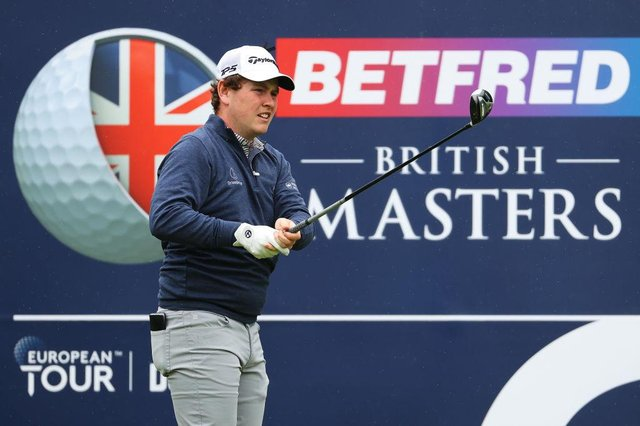 Bob MacIntyre during the final round of the Betfred British Masters hosted by Danny Willett at The Belfry in Sutton Coldfield. Picture; Andrew Redington/Getty Images.
