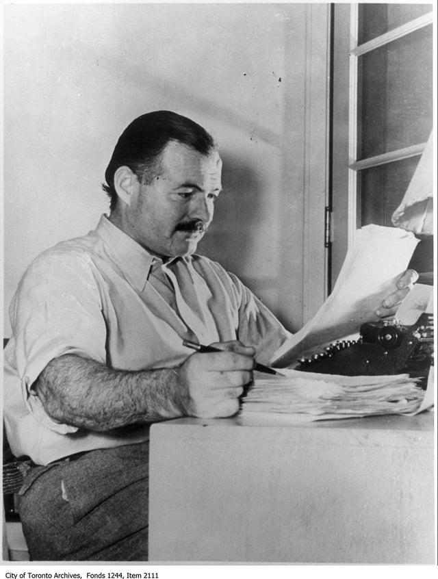 Writer and journalist Ernest Hemingway. PIC: CC.