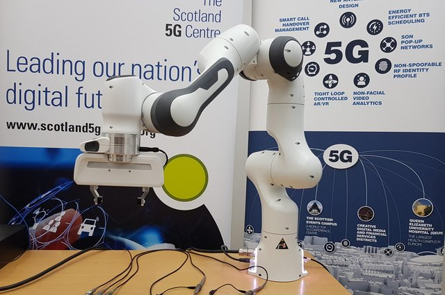 University of Glasgow students have been able to conduct their lab experiments remotely, using a pioneering robot – assembling and measuring an electrical circuit using equipment physically situated in the university's laboratory.